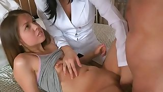 Stud assists with hymen corporal and poking of virgin chick