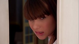 Horny Youthfull Students Luna Enemy & Rebecca Volpetti Nailed By Doctor At Home