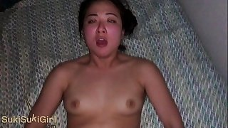Dearest POV waking up a big ass Asian girl for creampies
