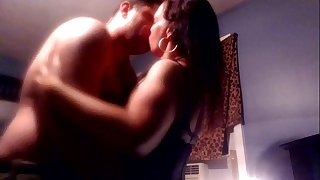 very fledgling couple in love sensually cum hard together!