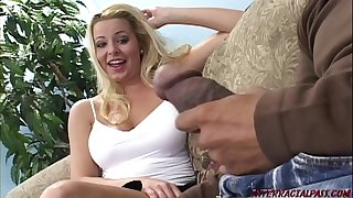 Married blonde cheats for monster black cock Blackzilla