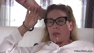 Busty Milf officer anal bitchy in rope
