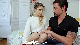 CUM4K Step father hook-up education Screw with CREAMPIE